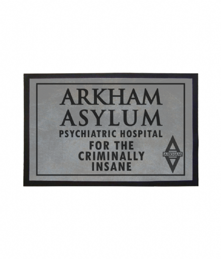 Arkham Asylum Psychiatric Hospital Doormat Inspired by Batman DC Gotham